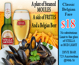 Mussels and Stella Artois